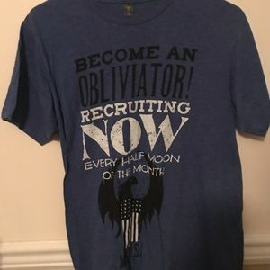 """""""become an obliviator"""" harry potter tee shirt"""